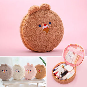 Rabbit/Bear Plush Cosmetic Bag