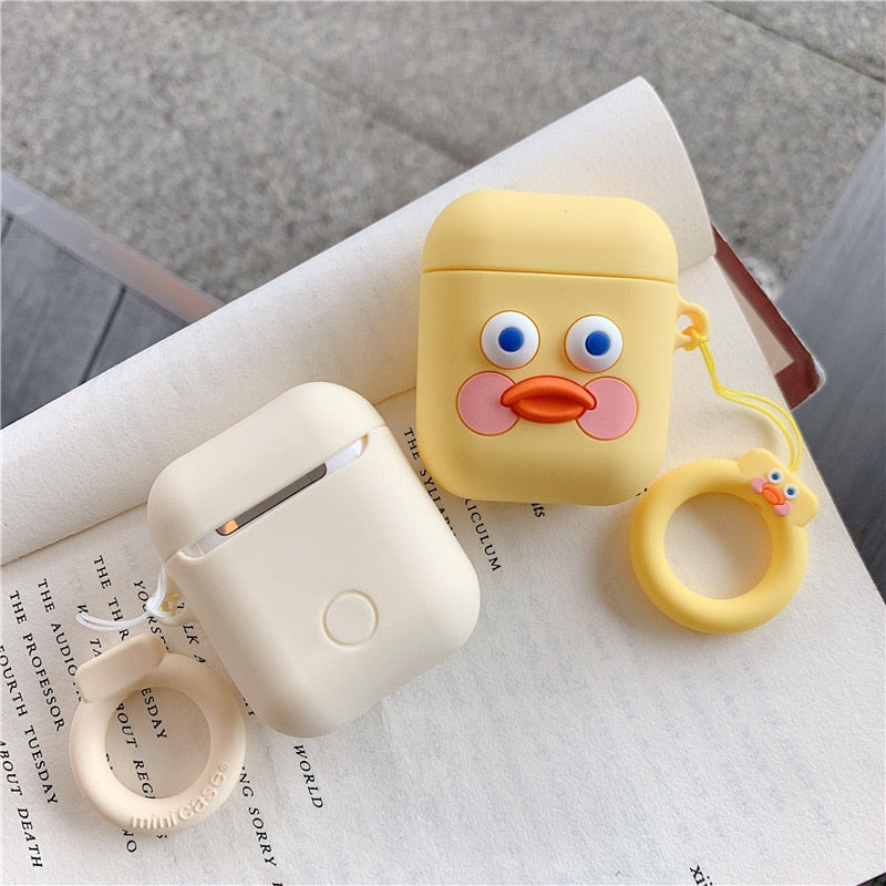 Kawaii AirPods Cover Case with Finger Ring Strap