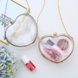 Heart Clutch with Chain