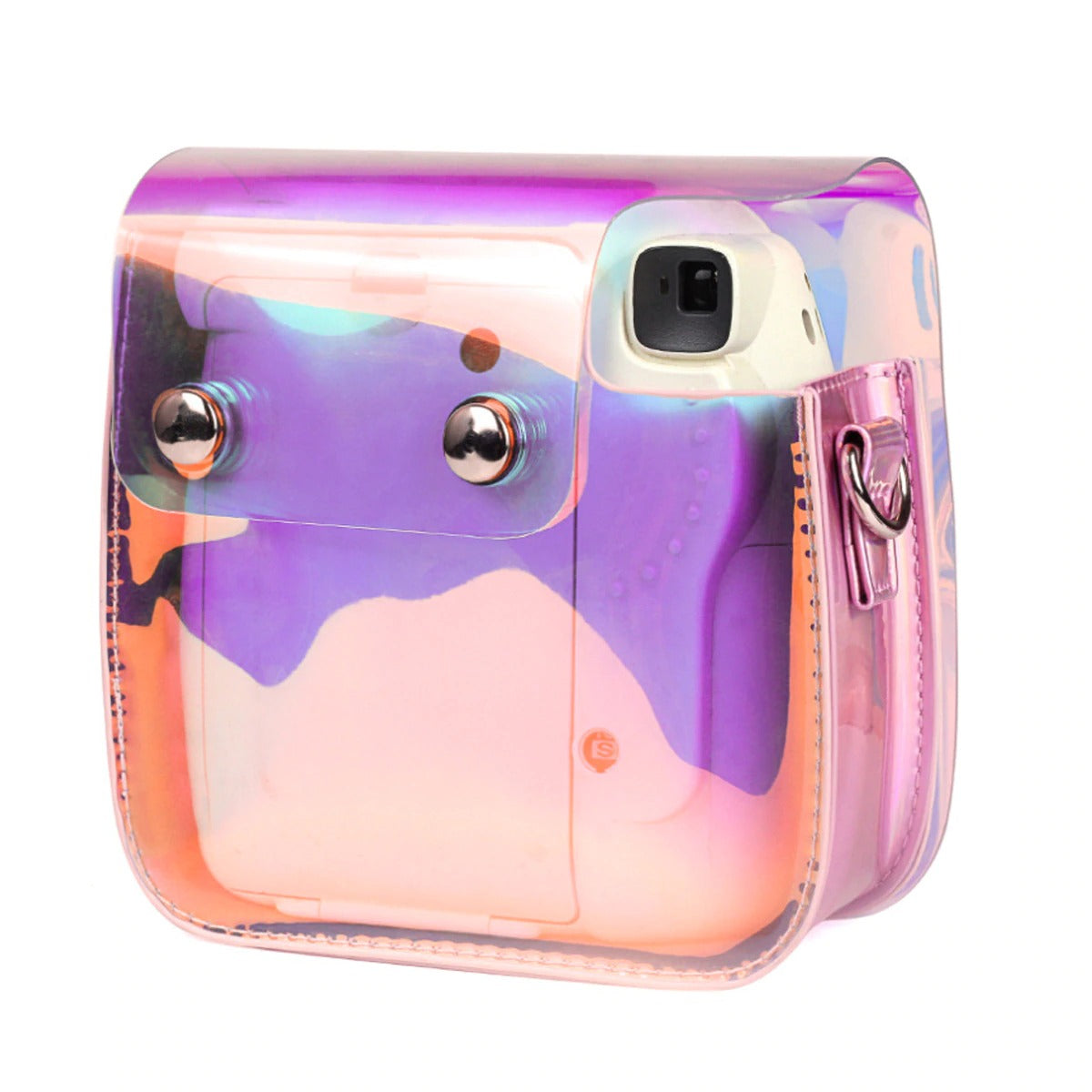 Pink Holographic Instax Mini 8/9 Bag