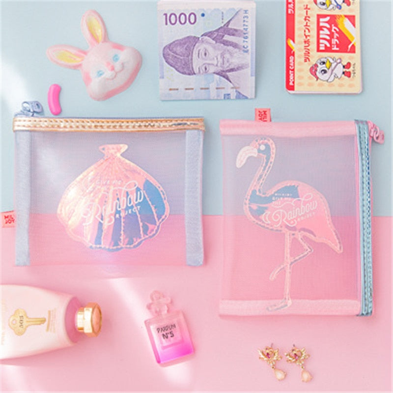 Sweet Flamingo/Shell Pouch