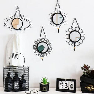 Young & Free Metal Hook Chic Mirror Wall Hanging