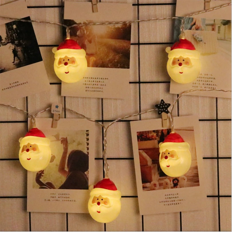 Cute Santa LED String Lights (1.5M/3M)