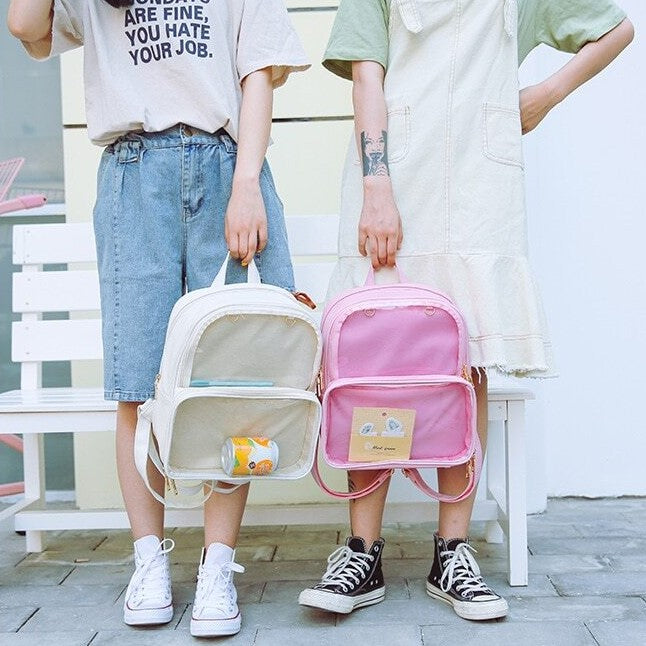 Multi-Pockets Transparent Backpack