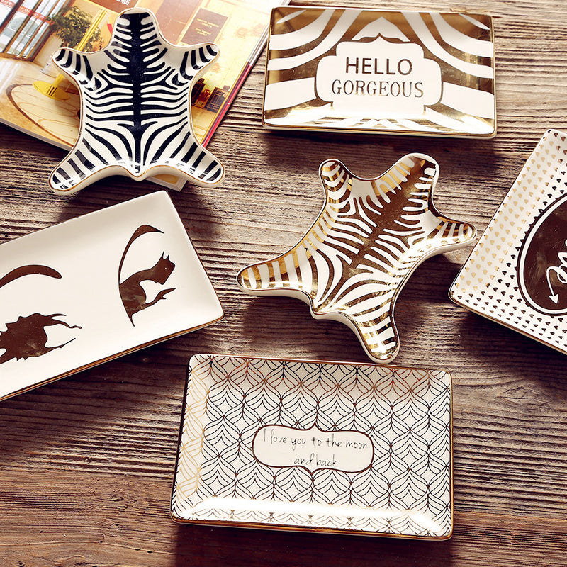 Wild & Free Hello Gorgeous Ceramic Jewelry Tray