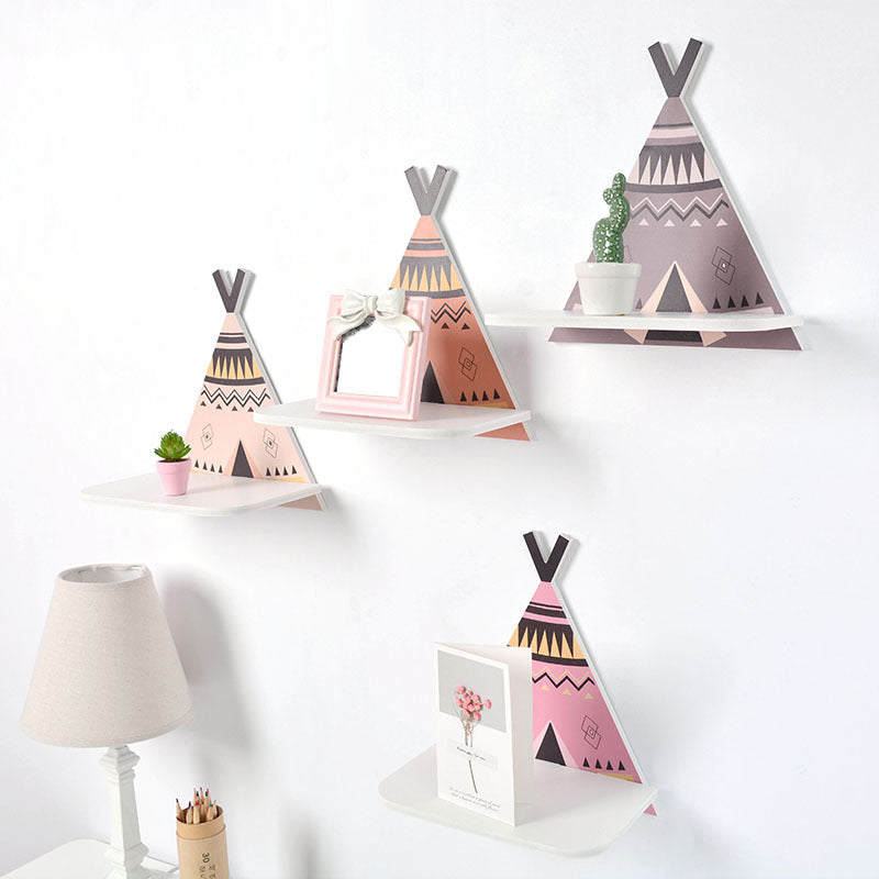 Wild & Free Wooden Teepee Wall Shelf