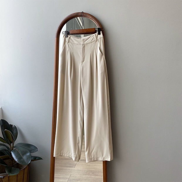 High Waist Suit Straight Pant Trouser