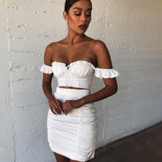 Ruffles Multiways Off Shoulder Crop Top