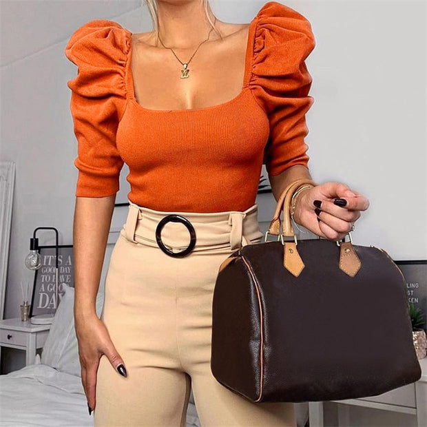 Vintage Puff Sleeve Top