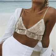 Sequin Glitter Bralette Top