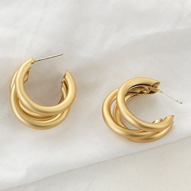 AENSOA Fashion Metal Statement Earrings 2020 Gold Color Geometric Earrings For Women Hanging Dangle Earring Earring Jewelry
