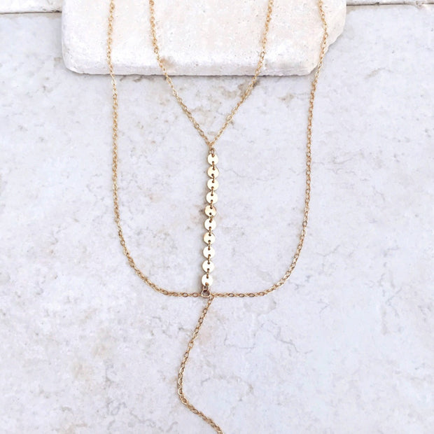 Kelly Layered Necklace - Maison Caujaulet