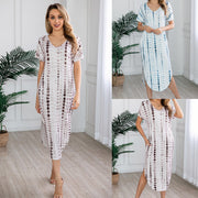 2020 New Arrival Women Dress Summer Sexy Strap Short Sleeve Irregular Maxi Long Dresses Female Casual Loose Plus Size Vestidos