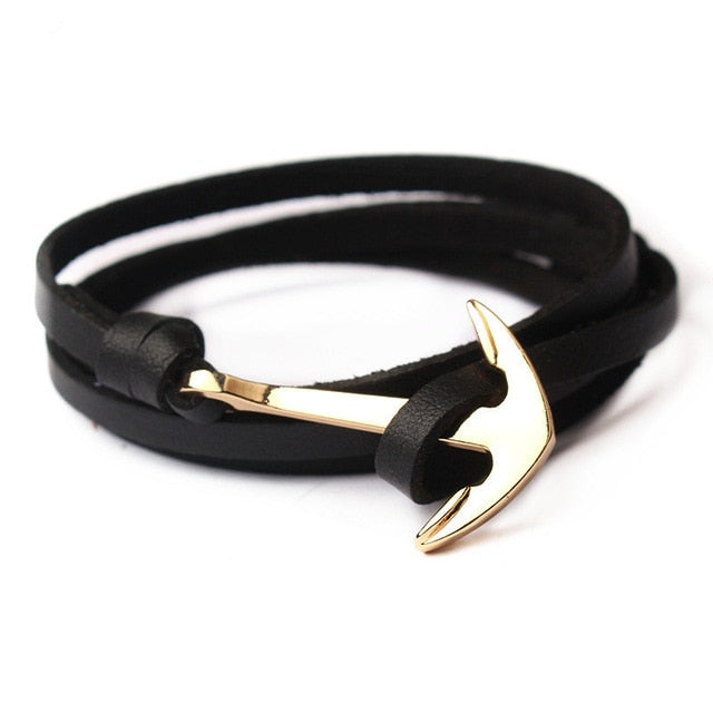 Nautical Leather Bracelet - Maison Caujaulet
