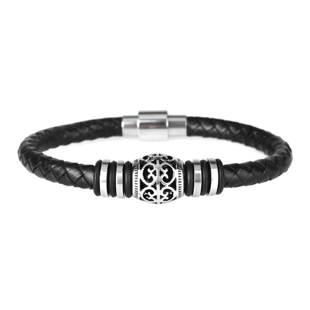 Julien Leather Bracelet - Maison Caujaulet