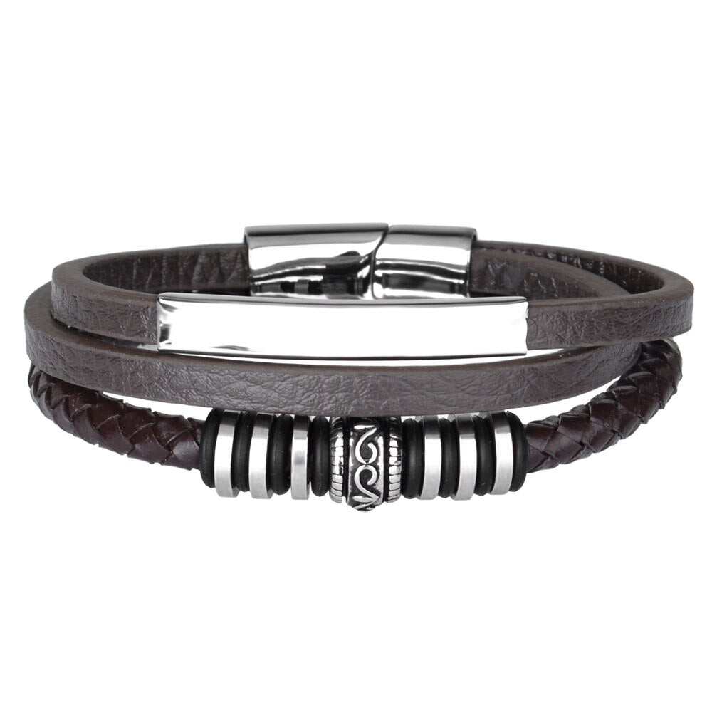 Alban Leather Bracelet - Maison Caujaulet