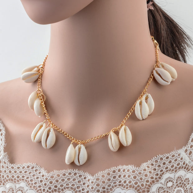 Zoé Shells Necklace - Maison Caujaulet
