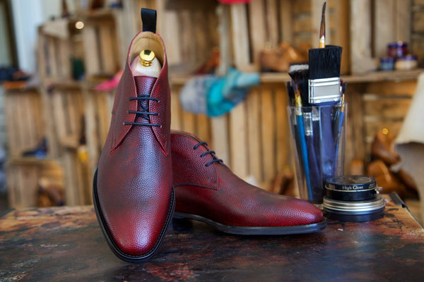 Mr. Longhorn: Oxblood + Grain Emboss