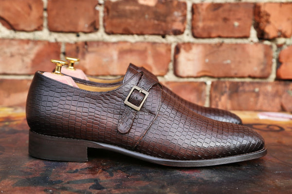 Mr. Galloway: Tobacco + Alligator Emboss