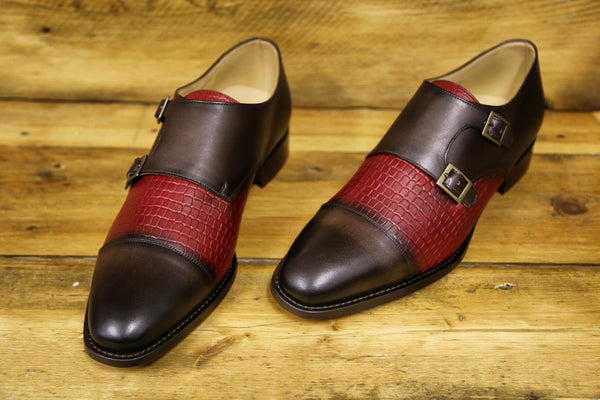 Mr. Hide: Walnut and Crimson + Alligator Emboss