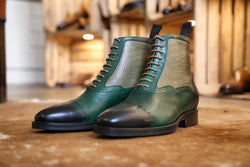 Mr. Highland: British Racing Green and Olive + Crocodile Emboss