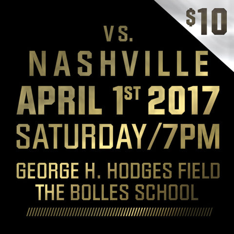 2017 - Vs Nashville - Saturday, April 1st