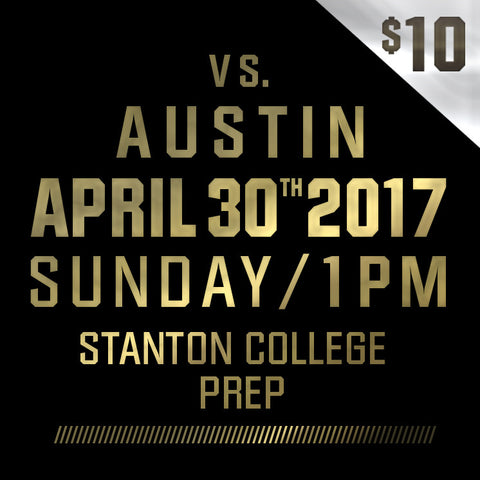 2017 - Vs Austin - Sunday, April 30th