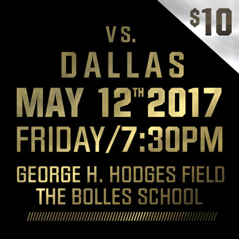 2017 - Vs Dallas - Friday, May 12th