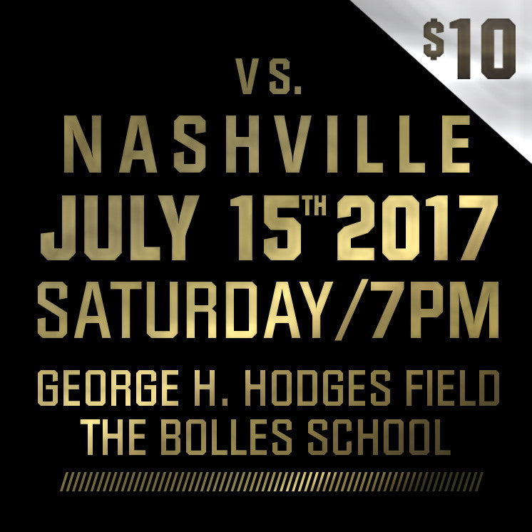 2017 - Vs Nashville - Saturday, July 15th
