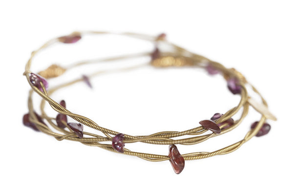 Rock'n Bangles - Claw (Gold and Garnet)