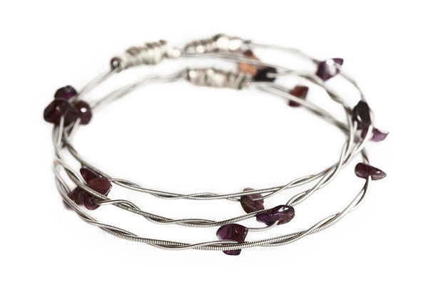 Rock'n Bangles - Claw (Silver and Garnet)