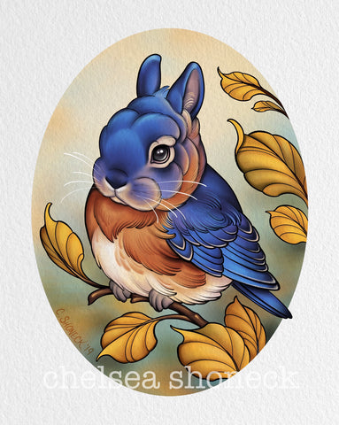 September Bunnybird - Eastern Bluebird
