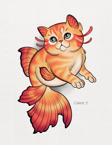 Kittenfish - Orange/Pink