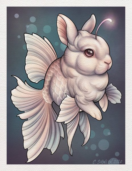 Bunnyfish pair - White and Black/Pink