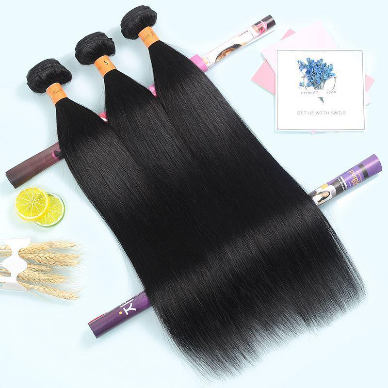 Good Quality Straight Hair Bundles Natural Black Color 100% Human Hair Weave Bundles 8-28Inch Virgin Hair Extension 3 Pieces