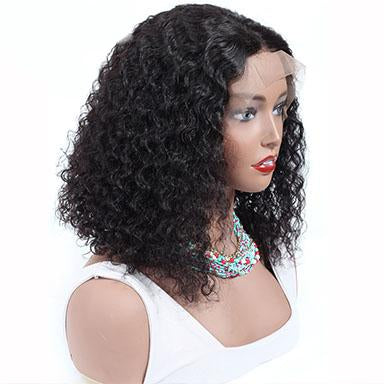 Lace Front Bob Wigs Brazilian Human Hair For Black Women Natural Color