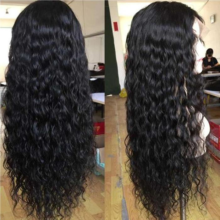 Water Wave Lace Front Human Hair Curly Wig