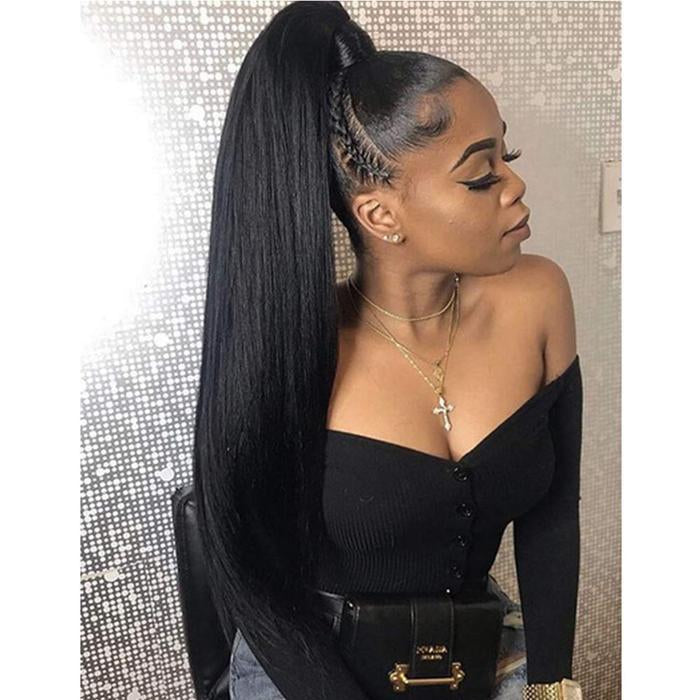 140% Human Hair Wave/Straight Wigs Black Color