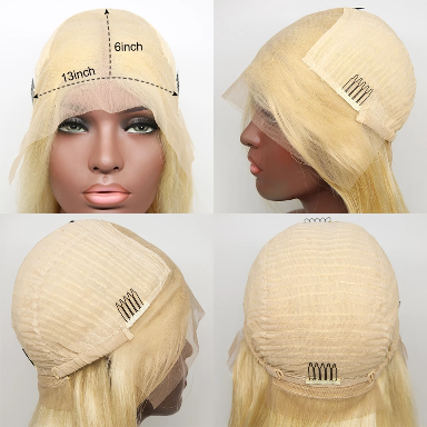 Blonde Lace Front Wig Brazilian Human Hair Wigs For Black Women Transparent