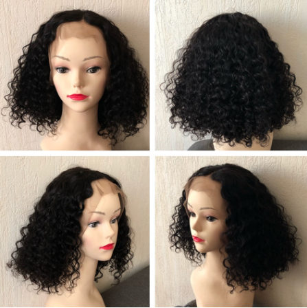 13x4 Deep Curly Bob Wig Lace Front Human Hair Wigs Brazilian Wig Preplucked Remy For Black Women 8-22 inch Fast Shipping