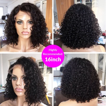 Load image into Gallery viewer, Short Curly Wig 13*4 Lace Front Brazilian Hair Wigs Remy Human Hair Wigs Lace Wig With Baby Hair