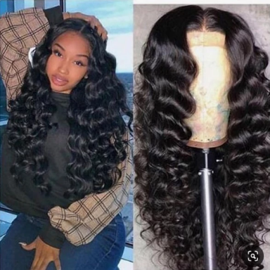 360 Lace Frontal Wig With Baby Hair Loose Deep wave Human Hair Wigs For Black Women Remy