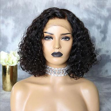 Short Curly Wig 13*4 Lace Front Brazilian Hair Wigs Remy Human Hair Wigs Lace Wig With Baby Hair