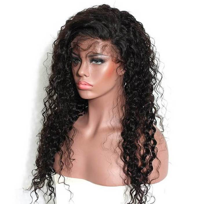 Deep Wave Full Lace Wigs Remy Hair Wig with Baby Hair