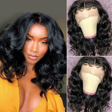 Curly Bob Lace Front Brazilian Human Hair Wig Pre Plucked With Baby Hair