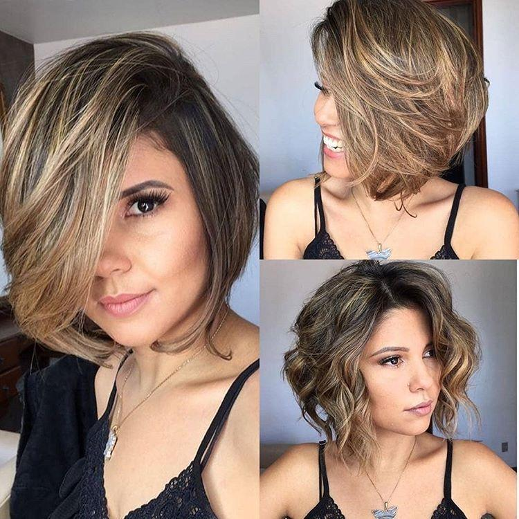 Brown Mixed Gold  Short Wig