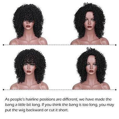 AFRO CURLY HAIR WIG - LCK-hair