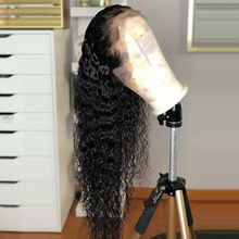 Load image into Gallery viewer, Elegants Water Wave Lace Front Human Hair Wigs Full Frontal Lace Wig Glueless Brazilian Remy Hair Wig Pre Plucked With Baby Hair