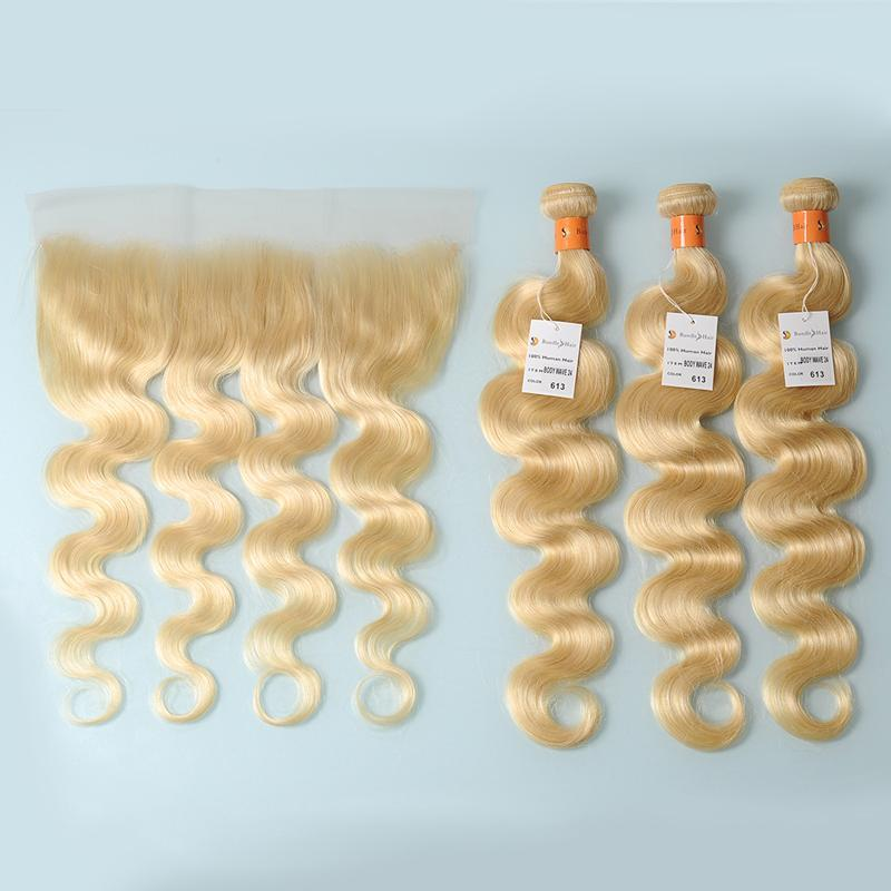 10 A Blonde  13x4 Lace Frontal Closure Body Wave Blonde Human Hair