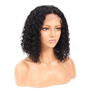 Curly 360 Lace Front Human Hair 100% Brazilian Wig Baby Hair
